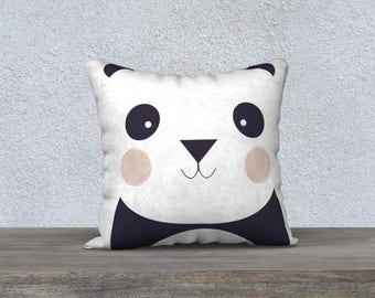 """PANDA"" child pillow decorative pillow cover, child's room, kidsroom design"