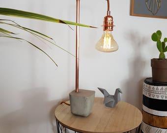 "Lamp concrete & copper ""MOCHA"""