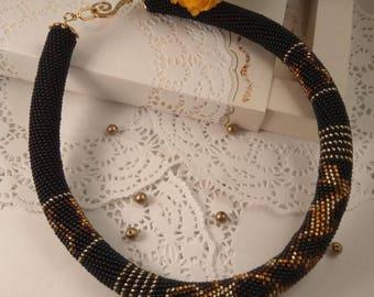 "Necklace of Czech beads ""Art-Leo"""