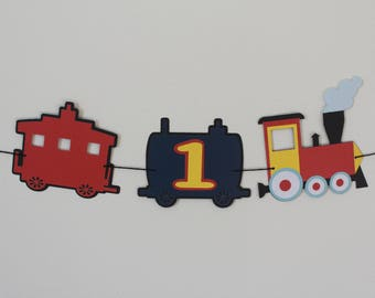 Train High Chair Banner; Train; Train Birthday; Train Birthday Party; Train decor; train party; Chugga Chugga Two Two