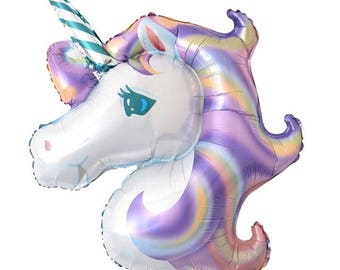 Purple Unicorn Balloon, Party Balloons, Celebration Balloons, Event Balloons, Birthday Party, Tropical Party, Unicorn Party