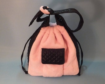Shoulder Bag, Handbag, Bucket Bag, Gift for Her, Pink Shoulder Bag, Pink Handbag, Sporty Gift, Sporty-Chic style Ecological Fur Shoulder Bag