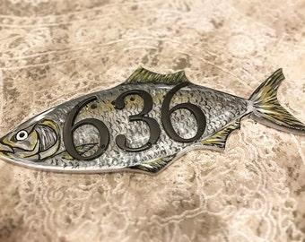 Fish Address Plate