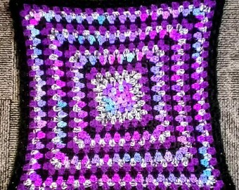Variegated Purple Baby Blanket