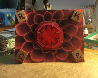 Red Hot Chili Peppers (Decoupage/3D) Card