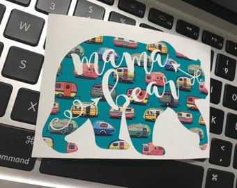 mama bear decal, camper life, traveler decal