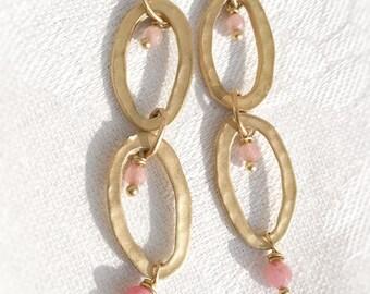 earrings gold-plated zamak