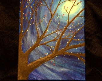 Moonlight Tree Canvas