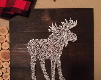 Table Moose string art, wall decor