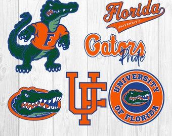 University of Florida SVG, University of Florida Files, UF Gators Logo, Football Printables, Vector Image, Silhouette Cricut, S-045