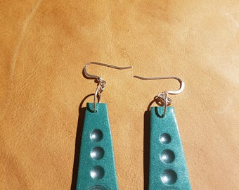 Polymer Earrings With 925 Sterling Silver Hooks