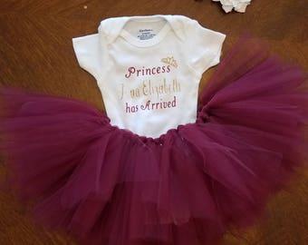 princess 3 piece tutu outfit