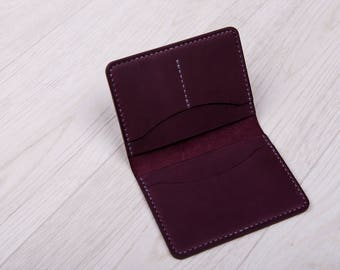 Marsala wallet, Leather wallet, Handmade wallet, Handstitched wallet, Genuine wallet, Men wallet, Women wallet, Gift idea
