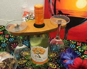 Wooden Wine Glass Holder, Wine Caddy