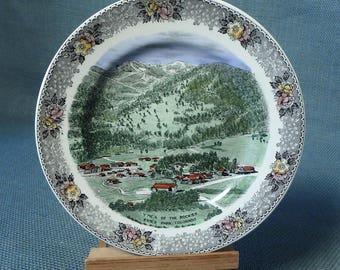 YMCA Of The Rockies - Estes Park, Colorado - Decorative Souvenir Plate - Old English Staffordshire Ware