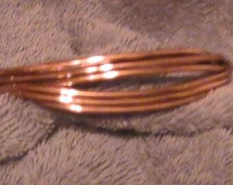 5 WIRE NATURAL Copper Bracelet