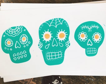 Sugar Skull Screenprint