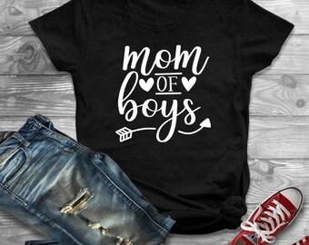 Mom Of Boys Shirt, Boy Mom, Mama Bear Shirt, Mom Shirts, Shirts For Mom, Mom Life, Mom Tshirt, Mothers Day