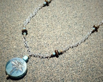 Chain Necklace with Dragonfly Pendant
