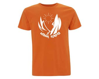 Organic cotton t shirt unisex orange OUTDOOR CLIMBING