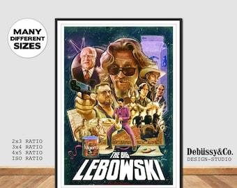Big Lebowski Print, Jeff Bridges Movie poster, John Goodman Big Lebowski