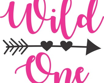 Wild One Girl Birthday SVG