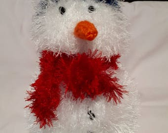 Knitted snowman toy or decoration