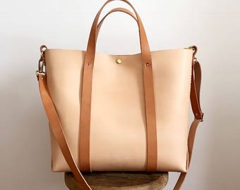 Large Cowhide leather tote/cowhide leather tote/Sturdy leather bag for work/leather laptop tote/sturdy leather bag/shopper leather bag