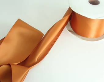 Copper Double Faced Satin Ribbon By The Yard / Wholesale Ribbon By The Yard / Ribbon By The Yard / Bridal Ribbon / Craft Ribbon / Copper