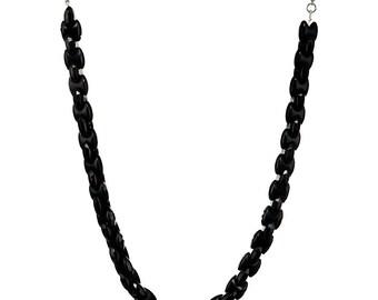 Stylish Black Beaded Necklace