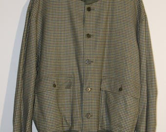 ITALIAN BOMBER JACKET//Made in Italy//Cashmere and Wool//Plaid//Vintage//Gorgeous quality//luxury materials//Valstar Milano//Men's Size 56