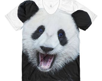 Sublimation women's crew neck t-shirt Panda
