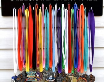 FAST SHIPPING Free Customizing Available   Running Medal Display Rack S4509 Celebrate Every Mile