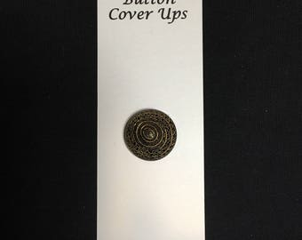 Black and Gold Button Cover Up