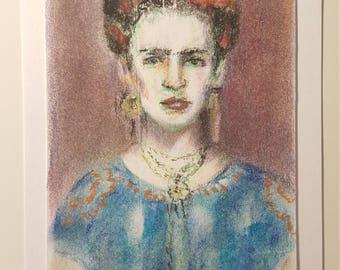 "Original Charcoal Illustration ""Frida"""