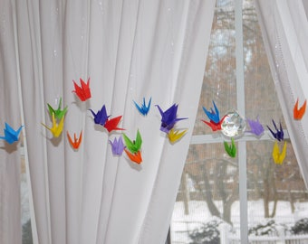 Origami Crane Mobile Baby Mobile Eco Friendly Children Decor