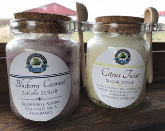 Handcrafted Blueberry Coconut Sugar Scrub