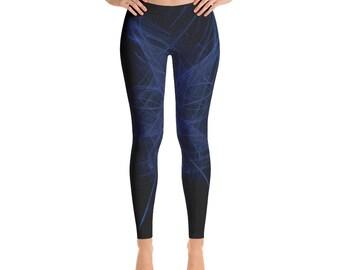 Women's Bluiae-Leggings,Beautiful Pattern leggings, full printed, Printful, USA,Made for you, Modern,Trendy Design store,