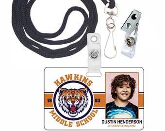 Stranger Things Dustin Henderson Netflix Novelty ID Badge for Costume & Cosplay