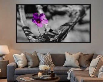 Framed wall art canvas print