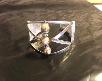 Handmade Wrapped Silver Wrap Cuff Bracelet
