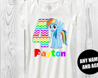 My little pony birthday shirt rainbow dash