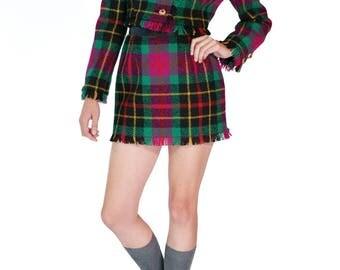 Redesigned Vintage Oscar de la Renta Crop Jacket Skirt Set (2 Pieces)