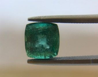 2.44Cts Natural Zambian Emerald AAA Grade 8MM Cushion Cut Faceted Wholesale Lot Loose Gemstone