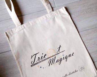 Knitting bag-cotton tote bag