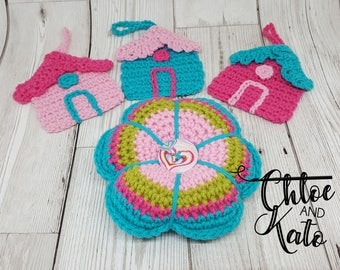 Birdhouse and Pincushion Mothers Day or Easter Gift Set