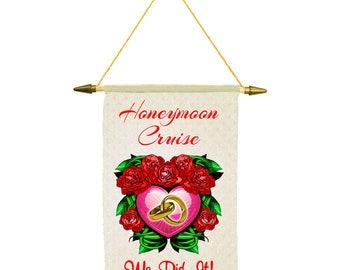 """Cruise ship door banner - """"Honeymoon Cruise"""" ship door banner"""
