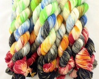 Hand Dyed Merino Yarn Fingering Weight 220 Yards (201 Meters) - RAWK