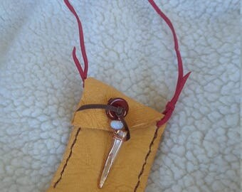 Simply Leather Prayer Pouch Necklace
