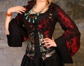 Crimson Medallion Pirate Coat SLEEVES size SMALL